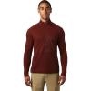 Mountain Hardwear Men's Cragger2 LS 12 Zip Top - Small - Rusted