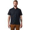 Mountain Hardwear Men's Hand/Hold Printed SS Shirt - XXL - Dark Storm Cam Print