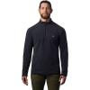 Mountain Hardwear Men's Macrochill 1/2 Zip Pullover - Small - Dark Storm
