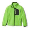 Columbia Youth Fast Trek II Fleece Full Zip Jacket - Large - Green Mamba / Shark