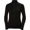 Helly Hansen Women's HH Lifa Merino 1/2 Zip Top - XL - Black