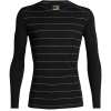 Icebreaker Men's 200 Oasis LS Crewe Top - XXL - Black Stripe