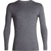 Icebreaker Men's 200 Oasis LS Crewe Top - Large - Gritstone Heather