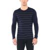 Icebreaker Men's 200 Oasis LS Crewe Top - Large - Midnight Navy Stripe