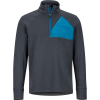 Marmot Men's Hanging Rock 1/2 Zip Top - Small - Dark Steel / Moroccan Blue