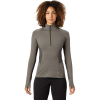 Mountain Hardwear Women's Ghee LS 1/4 Zip Top - Medium - Shark Heather