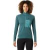 Mountain Hardwear Women's Daisy Chain 1/2 Zip Pullover - XL - Washed Turq