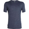 Icebreaker Men's Sphere SS Crewe - Medium - Midnight Navy Heather