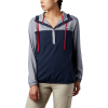 Columbia Women's Tamiami Hoodie - 1X - Collegiate Navy / Red Lily