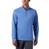 Columbia Men's Slack Tide 1/4 Zip Top - 3XL Tall - Vivid Blue Heather