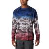 Columbia Men's Super Terminal Tackle LS Shirt - Small - Americana Digi Camo Fade