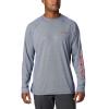 Columbia Men's Terminal Deflector LS Shirt - Medium - Carbon / Red Spark