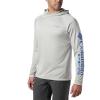Columbia Men's Terminal Tackle Heather Hoodie - Medium - Cool Grey Heather / Vivid Blue Logo