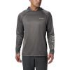 Columbia Men's Terminal Tackle Heather Hoodie - Medium - Charcoal Heather / Cool Grey Logo