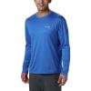 Columbia Men's PFG Zero Rules LS Shirt - Medium - Vivid Blue