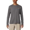 Columbia Men's PFG Zero Rules LS Shirt - Large - City Grey