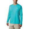 Columbia Men's PFG Zero Rules LS Shirt - XS - Bright Aqua
