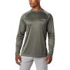 Columbia Men's Terminal Tackle LS Shirt - 3X - Cypress / White Logo