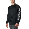 Columbia Men's Terminal Tackle LS Shirt - 2X - Black / Cool Grey