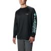 Columbia Men's Terminal Tackle LS Shirt - 1X - Black / Gulf Stream
