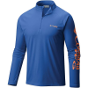 Columbia Men's Terminal Tackle 1/4 Zip Top - XL - Vivid Blue / Jupiter