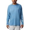 Columbia Men's Terminal Tackle Heather LS Shirt - XL - Dark Pool Heather / White Logo