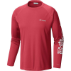 Columbia Men's Terminal Tackle LS Shirt - 1X - Sunset Red / Atoll Logo