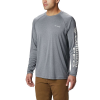Columbia Men's Terminal Tackle Heather LS Shirt - Small - Charcoal Heather / Cool Grey