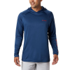 Columbia Men's Terminal Tackle Hoodie - Large - Carbon / Red Spark Logo