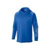 Columbia Men's Terminal Tackle Hoodie - XS - Vivid Blue / Cool Grey Logo