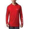 Columbia Men's Terminal Tackle Hoodie - Medium - Red Spark / White Logo