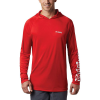 Columbia Men's Terminal Tackle Hoodie - XXL - Red Spark / White Logo