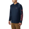 Columbia Men's Terminal Tackle Hoodie - 3XT - Collegiate Navy / Sunset Red