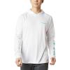 Columbia Men's Terminal Tackle Hoodie - Large - White / Bright Aqua Logo