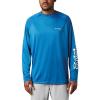 Columbia Men's Terminal Tackle LS Shirt - Large - Dark Pool / White Logo