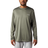 Columbia Men's Terminal Tackle PFG Triangle LS Shirt - XL - Cypress / White Logo