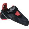 La Sportiva Women's Theory Climbing Shoe - 39 - Black / Hibiscus