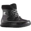 Sorel Women's Explorer Carnival Boot - 6.5 - Black / Sea Salt