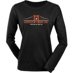 Official Across the Bay 10K In Training Long Sleeve Tee Women's Bridge Race Black