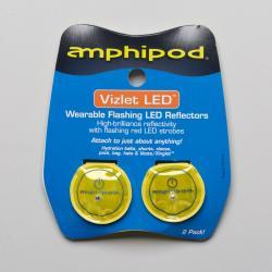 Amphipod Vizlet Flash Dot LED Reflectors 2 Pack Reflective, Night Safety Yellow