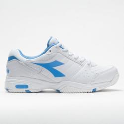 Diadora Smash Women's Tennis Shoes White/Iris Blue