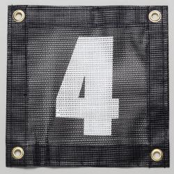 Gamma Tennis Court Numbers (Plastic) Court Equipment Number Four (4)