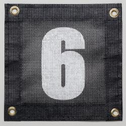 Gamma Tennis Court Numbers (Plastic) Court Equipment Number Six (6)