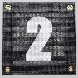 Gamma Tennis Court Numbers (Plastic) Court Equipment Number Two (2)