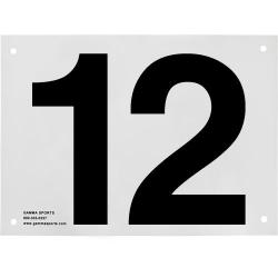 Gamma Tennis Court Numbers (Plastic) Court Equipment Number Twelve (12)