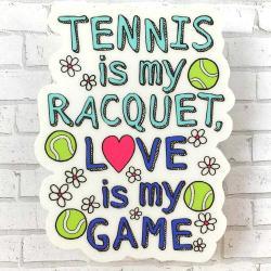 Racquet Smash Vinyl Sticker Tennis Gifts & Novelties Tennis is My Racqet