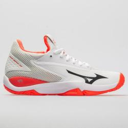 Mizuno Wave Impulse Women's Tennis Shoes White/Fiery Coral
