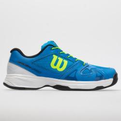 Wilson Rush Pro Junior Quick Lace Brilliant Blue/White/Green Gecko Junior Tennis Shoes