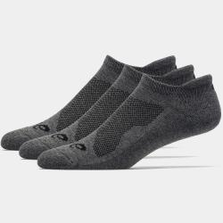 ASICS Cushion Low Socks Men's Socks 3 Pack Grey Heather