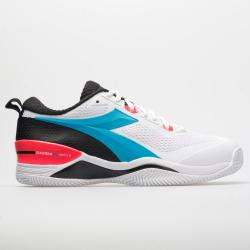 Diadora Speed Star K Duratech AG Men's Tennis Shoes White/Blue Fluo